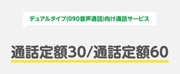通話定額30/60